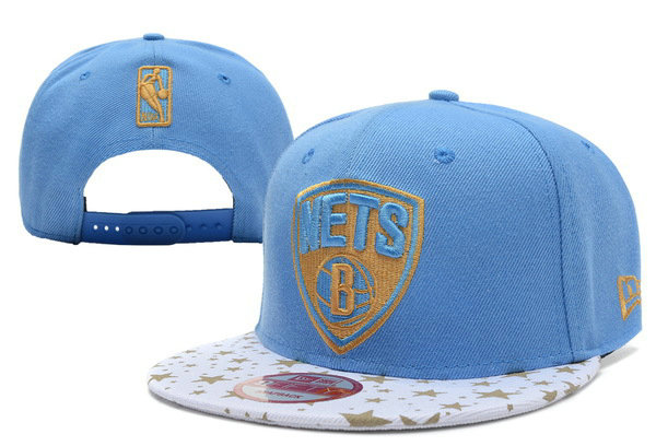 Brooklyn Nets Blue Snapback Hat XDF